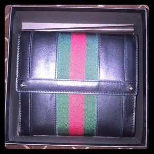 Gucci Wallet Authentic Black Genuine Leather